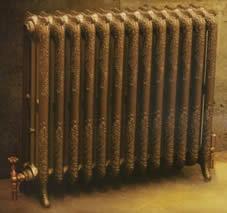 termosifone decorato antico