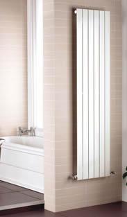 termosifone verticale in alluminio per il bagno